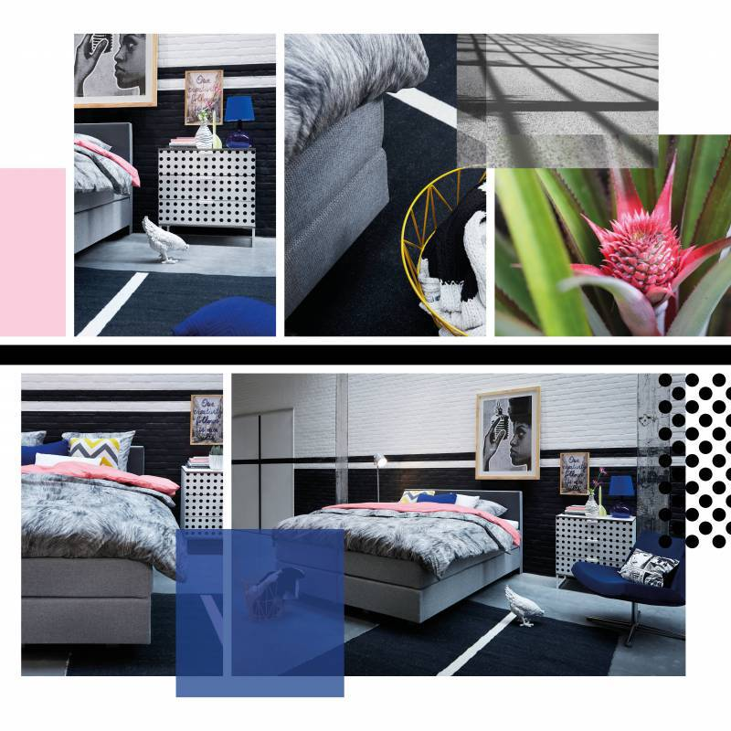 Moodboard - Boxspring Lento in stijl Grafisch modern