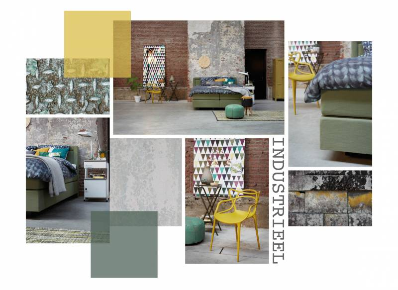 Moodboard - Boxspring Moderato in stijl Industrieel